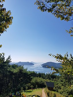Geoje, Sunset, Scenery, Autumn, Sea, Healing, Island