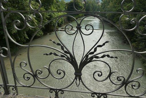 Bridge, Forgings, River, Traun, Bad Ischl, Austria