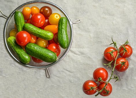 Tomatoes, Cherry Tomatoes, Vegetable, Cucumber, Raw