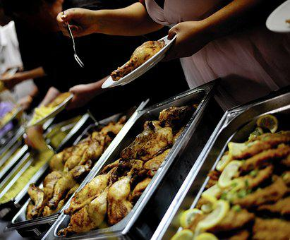 Buffet, Chicken Thighs, Poultry, Warm Buffet