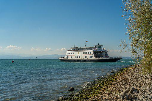 Ship, Watercraft, Ferry, Lake Constance, Water, Sky