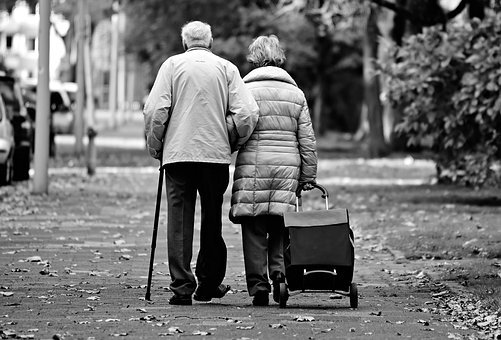 Man, Woman, Elderly Couple, Two, Together, Togetherness