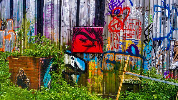 Colorful, Street Art, Abandoned
