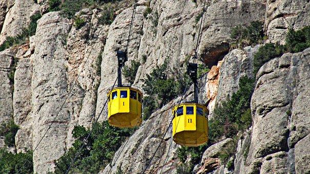 Cable Car, Air Transport, Funicular, Fun, Landscape