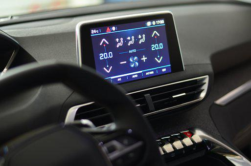 The Interior Of The, Auto, Cockpit, Peugeot, Modern
