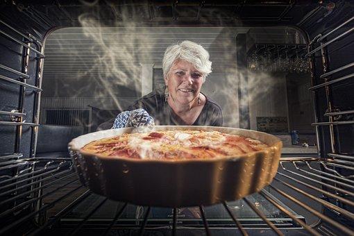 Apple Pie, Woman, Kitchen, Baking, Food, Delicious