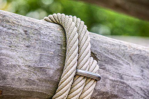 Rope, Wood, Bar, Play, Climb, Klettergerüst, Romp