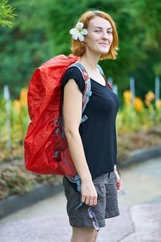 Tourist, Bag, Backpack, Overview, Beautiful, Standing