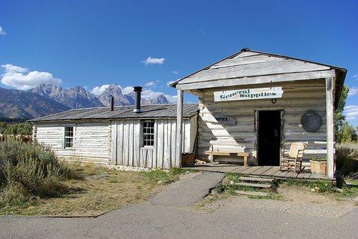 Bill Menor's Cabin, Cabin, House, Store, Grand, Teton