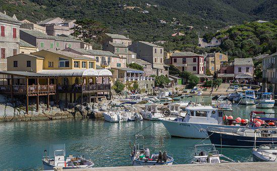 Corsican, Centuri, Port, Fishing, Boats, Village