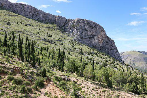 Bosnia, Landscape, View, Mountain, Nature, Hill, Rock