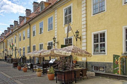 Latvia, Riga, Jacob's Barracks, Architecture, Building