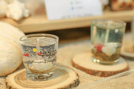 Shochu Cup, Candle, Second, Ornament, Candle Holder