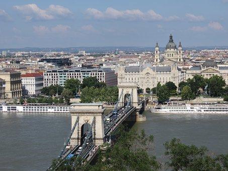 Chain Bridge, Budapest, Danube, Hungary, Bridge, City