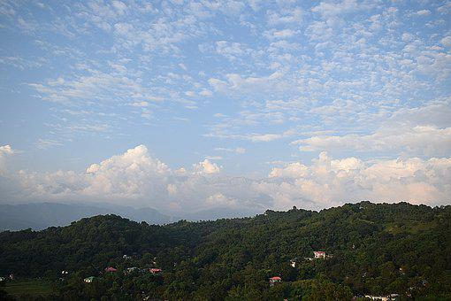 Landscape, Hill, Clouds, Nature, Mountains, Green, Sky