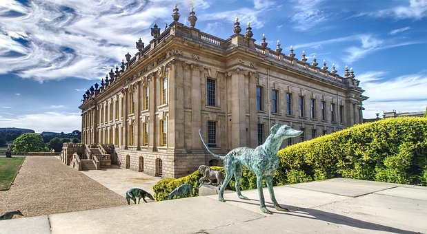 Chatsworth, Stately Home, Sculpture, Clouds