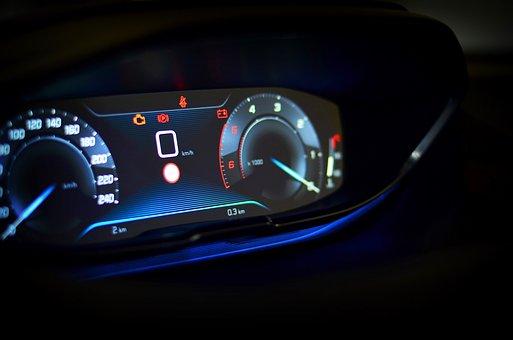 Speedometer, Cockpit, Speed, Unit, The Interior Of The