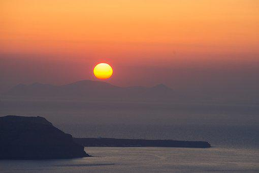 Sunset, Greek Islands, Costa, Sea, Stillness