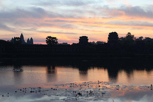 Dawn, Temple, Travel, Sky, Tourism, Sunrise, Culture