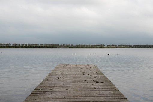 More, Deck, View, Silence, Serene, Birds, Landscape