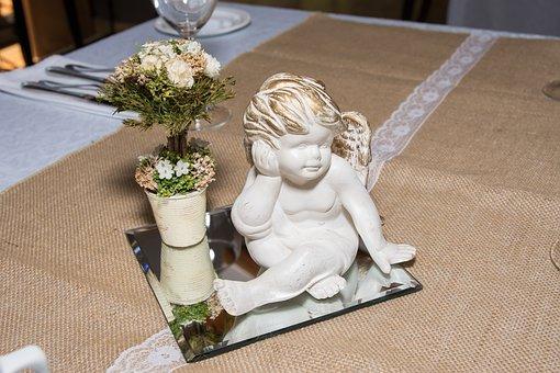 Angel, Decoration, Baptism, Figure, Deco, Cute