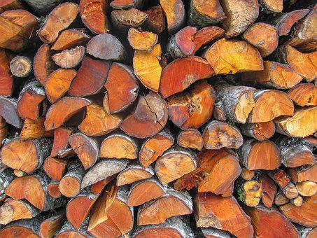 Wood, Logs, Red, Nature, Log, Tree, Forest, Firewood