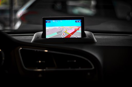 Navigation, Auto, Peugeot, Gps, The Interior Of The