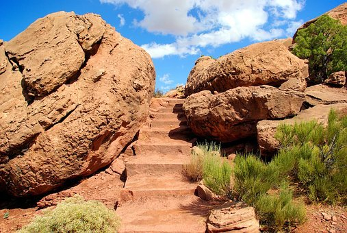 Grand View Point Trail, Desert, Rock, Stairs
