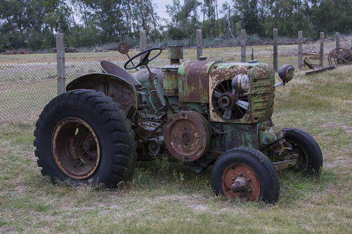 Hungary, Tractors, Old, Tractor, Agriculture