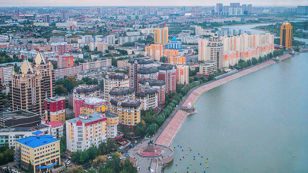 Astana, Kazakhstan, Left Coast, River, Yesil, Old