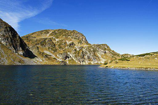 Bulgaria, Alpine Lake, Blue Sky, Lake, Rocks, Mountain