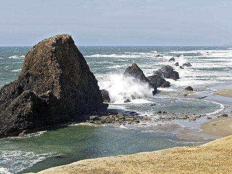 Coast, Oregon, Pacific, Beach, Landscape, Nature