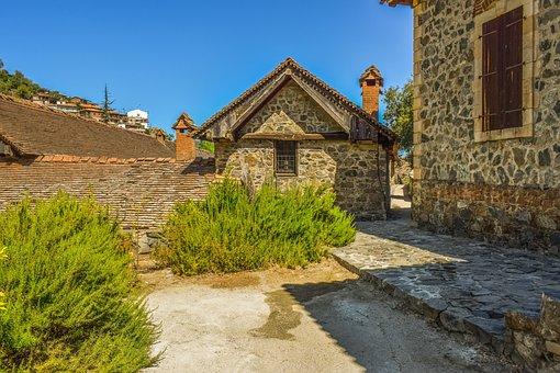 Cyprus, Kalopanayiotis, Monastery, Old, Medieval