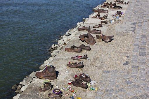 Hungary, Shoes, World War, Jews, Memorial, Monument