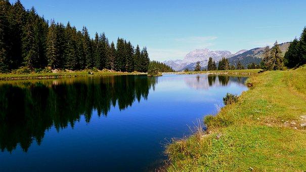 Nature, Lake, Alpine, Water, Landscape, Mountains, Blue