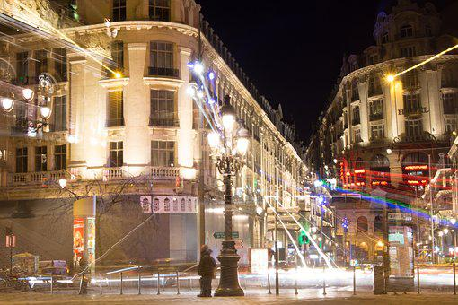 Lille, Night-time Photography, City, Nightlife