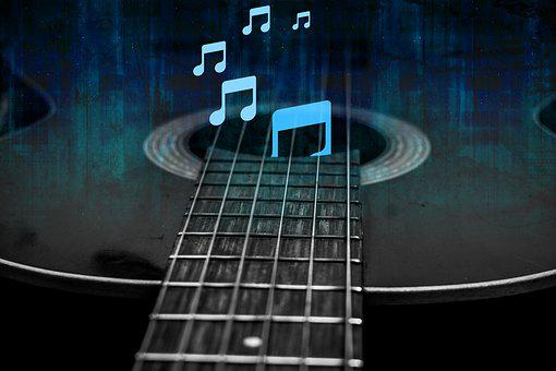 Guitar And Music Notes, Guitar Vintage, Music, Note