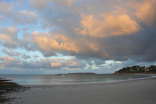 Seascape, Panoramic Views, Beach Of Perros-guirec Coast