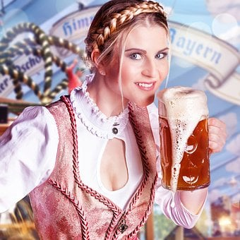 Oktoberfest, Beer, Woman, Party, Drink, Alcohol, Glass