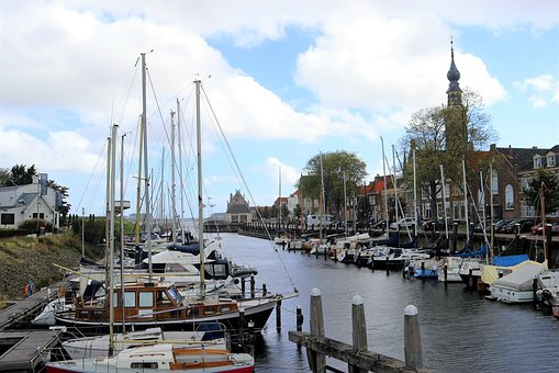 Holland, Veere, Port, Ships, Netherlands, Zeeland