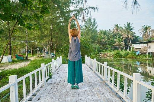 Woman, Model, Pose, Yoga, Exercise, Nature, Girl