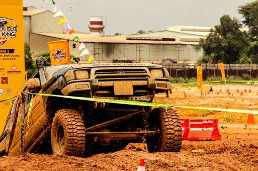 Pickup Truck, Racing, 4x4, Off-roading, Sand, Toyota