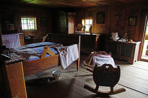Room, Ancient, Read, Cot, Old, Romantic, Wood