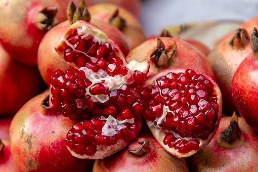 Pomegranate, Fruit, Fresh, Food, Healthy, Red, Vitamins