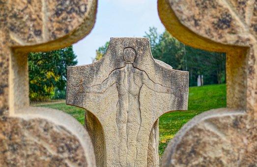 Statue, Cross, Faith, Religious, Sculpture