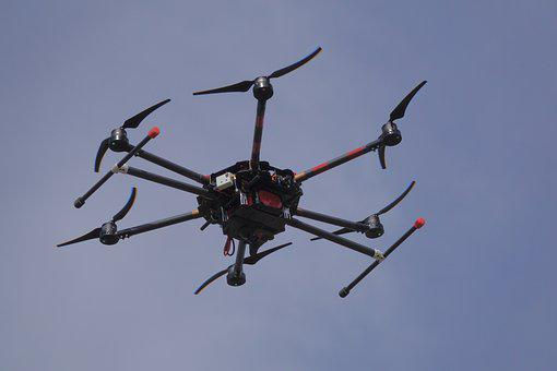 Drone, Flight, Sky, Flying, Quadrocopter, Remotely