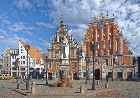 Latvia, Riga, Town Hall Square, House Of The Blackheads