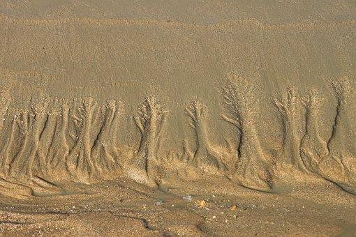 Tidal, Mud, Dirt, Nature, Sand, Mud Flat, Foreshore