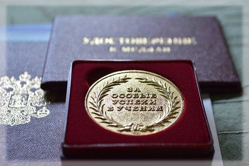 Medal, School, Graduate, Merit, Excellence