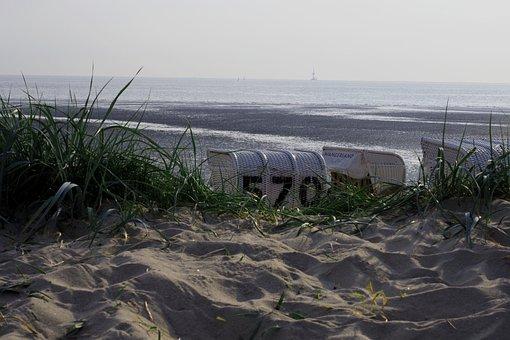 Beach, Beach Chair, Sea, Sand, Coast, Water, Sand Beach